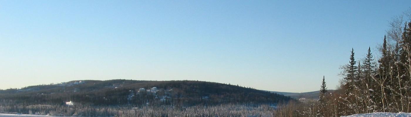 This is photo of Chena Ridge from the west ridge of University of Alaska Fairbanks.