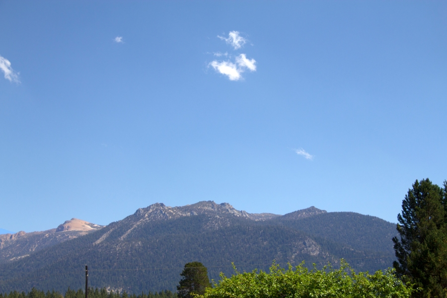 A mountain in the Lake Tahoe Basin. This was heading to beach on Lake Tahoe's south shore.