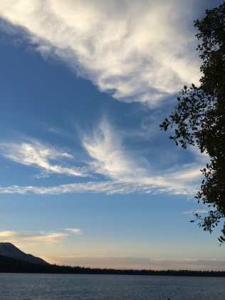 Here are some clouds with the sun setting looking to the northwest of Fallen Leaf Lake.