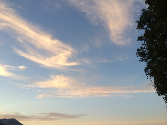 Here are some clouds with the sun setting on them.