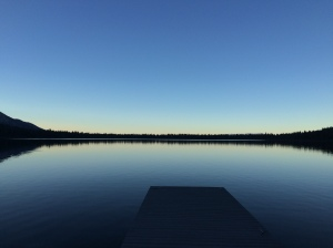 This is a twilight photo of Fallen Leaf Lake at dusk one evening.