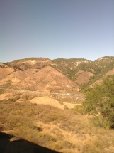 Traveling along the Amtrak Route.