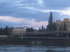 Part of the east bank of the Willamette River.