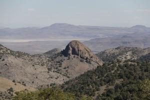 This is a mountain peek located near Virginia City, Nevada.