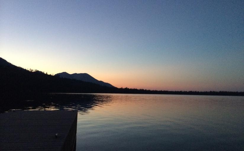 A lake atnight