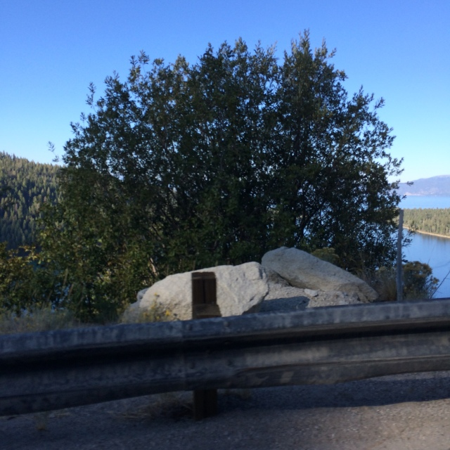 This was shot near Emerald Bay, Lake Tahoe along route 89.