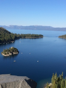 Here is Emerald Bay at Lake Tahoe in the early afternoon.
